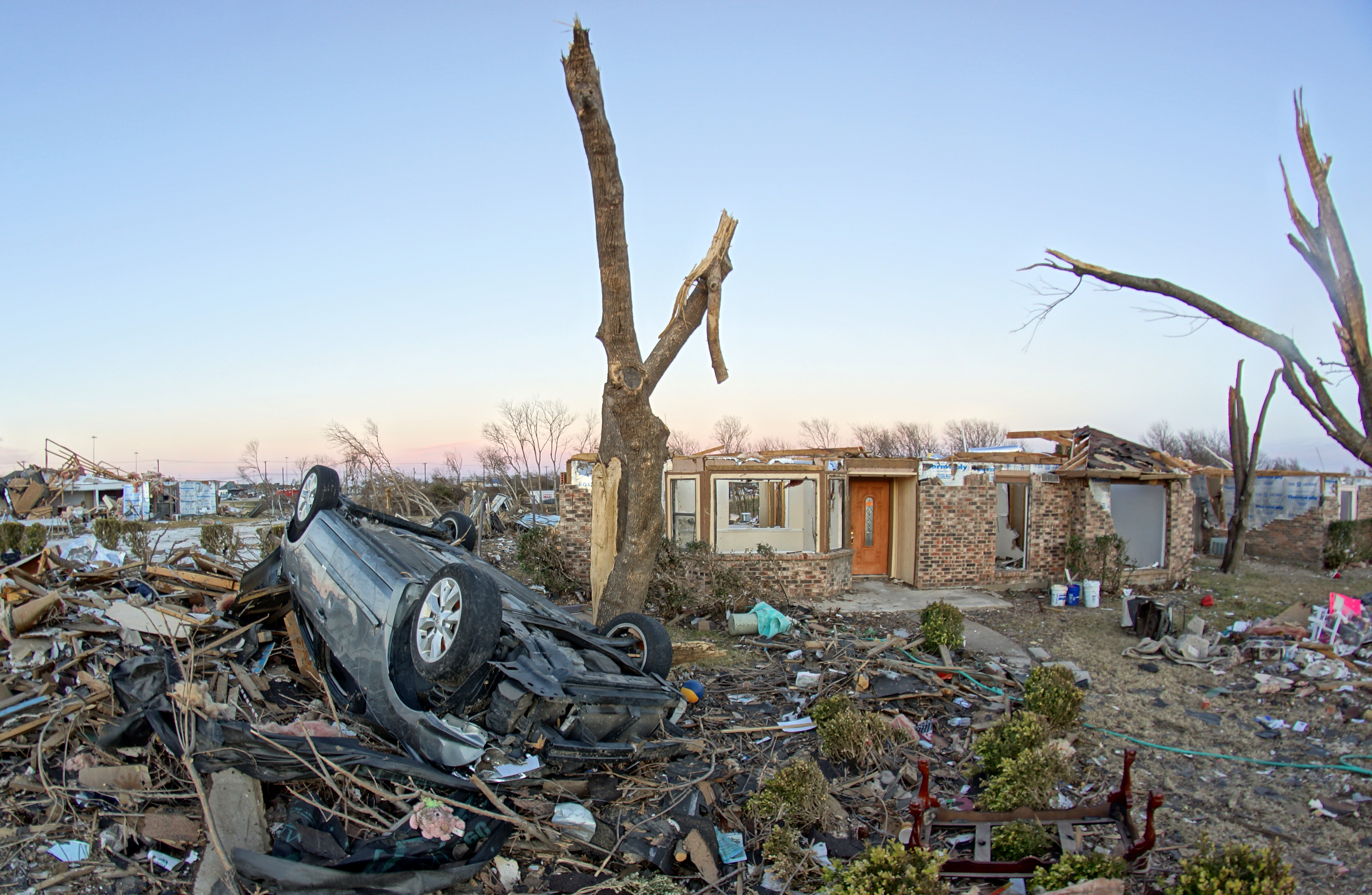 Storm damage home
